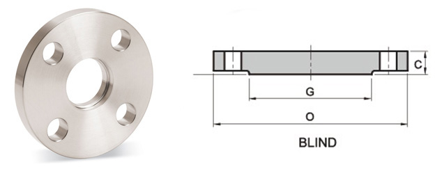 Dimensions of ANSI/ASME B16.5 Blind Flanges