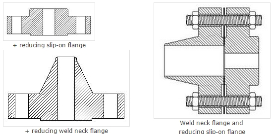 Draws of Reducing Flanges