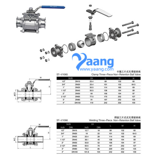 Stainless-Steel-3pc-Triclamp-Ends-Ball-Valve