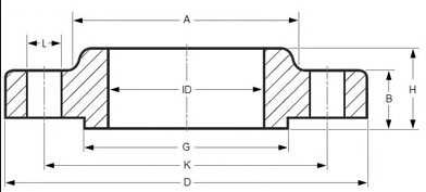 SORF Flange Drawing