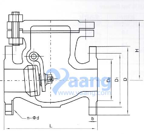 ANSI Swing Check Valve Drawing