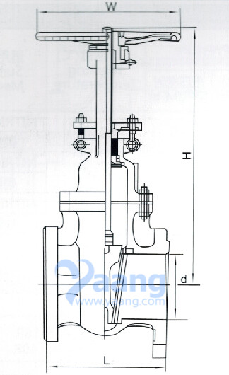 Flanged Gate Valve Drawing