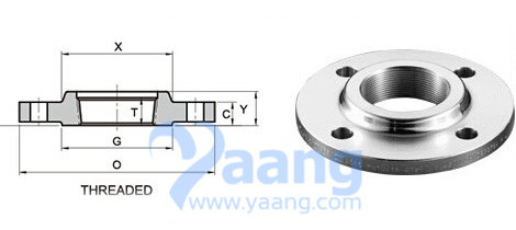 Threaded (NPT) Flange's Drawing