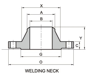 316L WNRF Flange Drawing