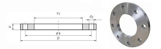 EN1092-1/01 Plate Flange