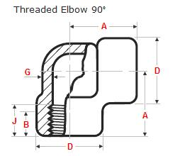 90 Degree Threaded Elbow