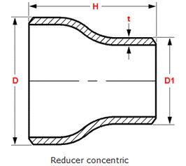 Concentric Reducer Drawing