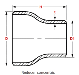 Seamless Concentric Reducer Drawing