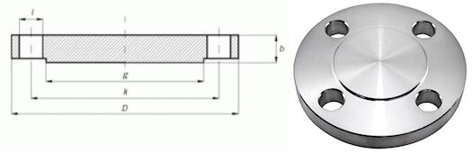 SIZES OF BLIND FLANGES ASME B16.5 CLASS 300
