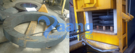 Heat treatment of flange