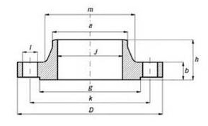 Dimensions & Approximate Masses of ANSI, ASME, ASA, B16.5 150lb/sq.in. WELDING NECK FLANGE RF