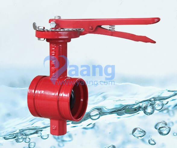 Handle grooved end butterfly valve yaang