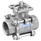 3PC Female Thread Ball Valve With High Platform