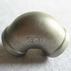 90 Degree Stainless Steel Threaded Elbow