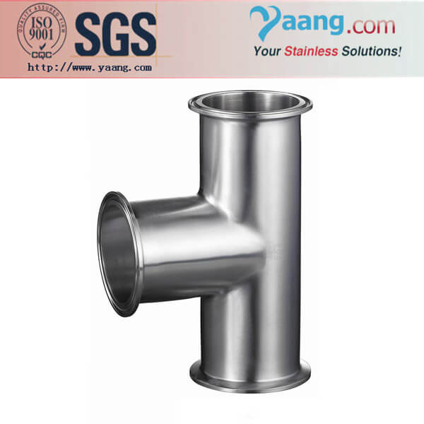 Sanitary Clamped Tee- Stainless Steel Sanitary and Food Grade Pipe Fittings