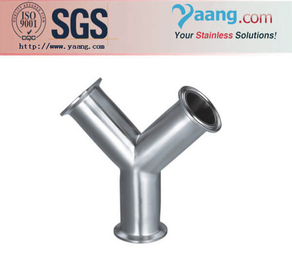 Sanitary Stainless Steel Y Type Clamp Tee-Tube Fittings--Quick Series