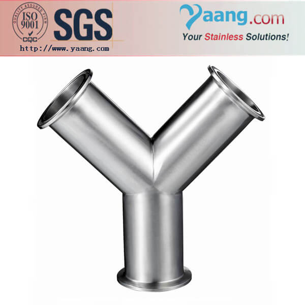 Sanitary Y-type Tee- Stainless Steel Sanitary and Food Grade Pipe Fittings