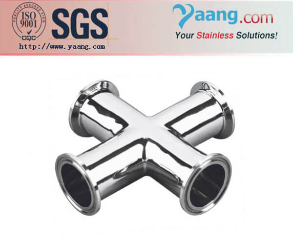 Stainless Steel Sanitary Clamped Cross