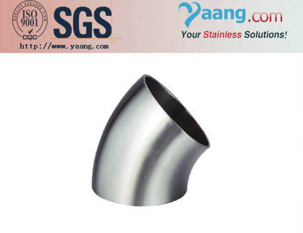 Stainless Steel Sanitary Pipe Fittings Sanitary Elbow Welding Type 45D Elbow
