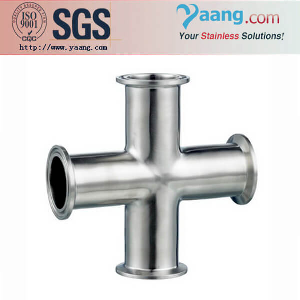 sanitary fittings stainless steel clamped pipe cross