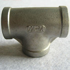 NPT BSPT BSP DIN2999 Casting Stainless Steel Female Threaded Pipe Tee