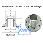 ANSI/ASME B16.5 Class 150 Weld Neck Flanges
