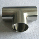 butt welding seamless Stainless Steel Sanitary Fitting Tee