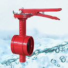 Handle Grooved End Butterfly Valve